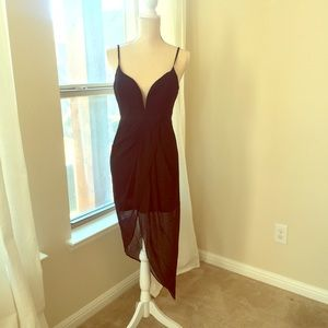 Black sexy high low dress brand new! With tags!